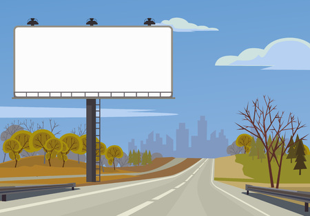 boarded: Road banner. Vector flat illustration Illustration