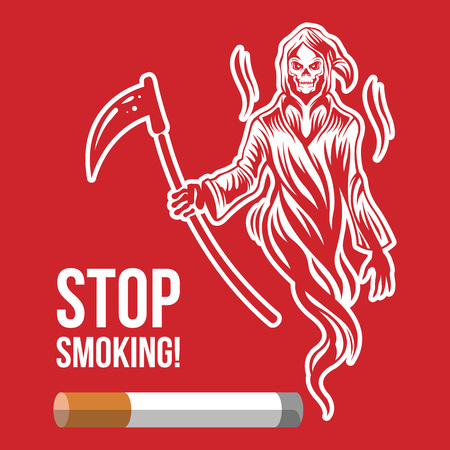 smoking stop: Stop smoking. Vector illustration Illustration