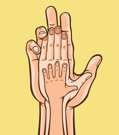 happy family: Family hands. Vector illustration