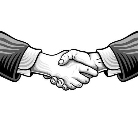 Sketch handshake. Vector illustration Illustration