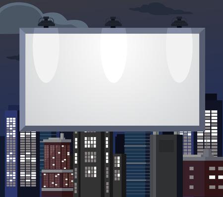 insertion: Billboard flat illustration