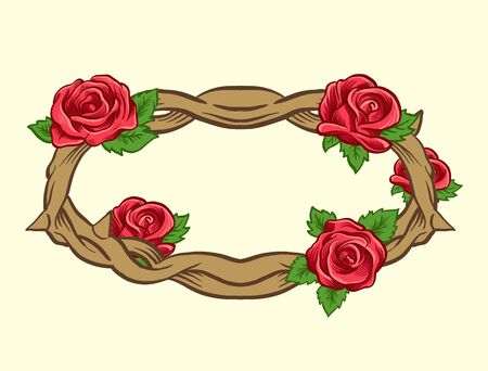 thorns and roses: Thorns and roses. Vector comic style illustration Illustration