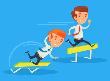 business competition: Business competition. Vector flat illustration Illustration