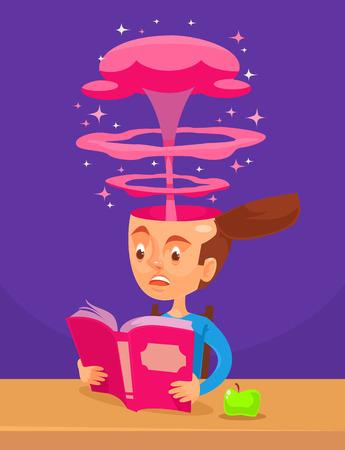 interesting: Interesting book. Vector flat cartoon illustration
