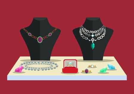 cufflink: Luxury concept. Accessories diamonds. Vector flat illustration