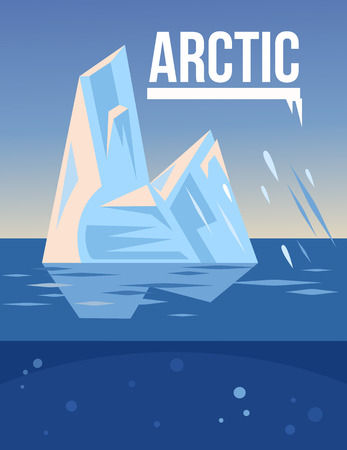 polar climate: Arctic vector flat illustration Illustration