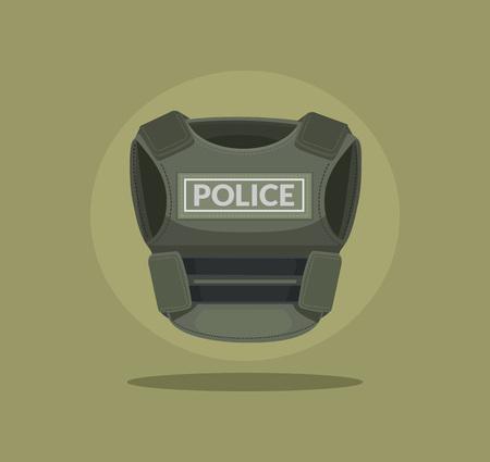 bulletproof: Bulletproof vest. Vector flat cartoon illustration Illustration