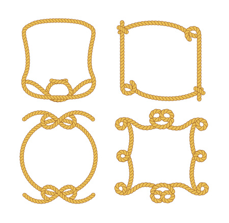 rope vector: Set of vintage rope. Vector cartoon illustration Illustration
