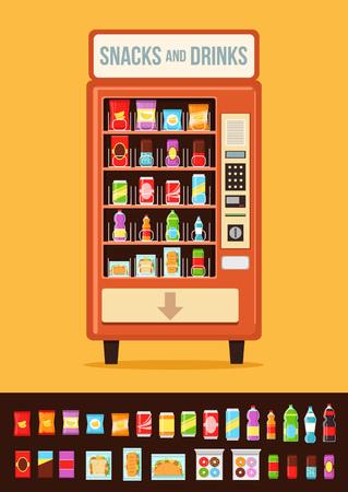 Automaat met voedsel.