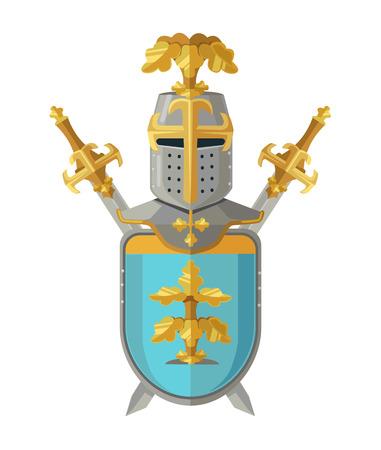 knight armor: Knight armor. Vector flat cartoon illustration Illustration