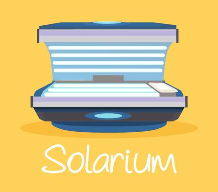 sun tanning: Solarium. Vector flat cartoon illustration