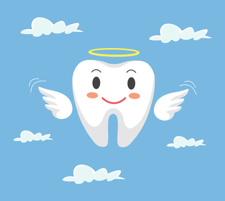 persona: Removal of tooth. Vector flat cartoon illustration Illustration