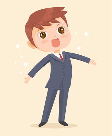 happy business man: Happy business man character. Vector flat cartoon illustration