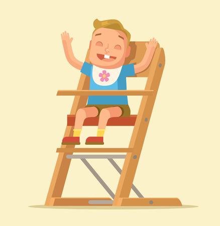 child boy: Happy child boy character. Vector flat cartoon illustration