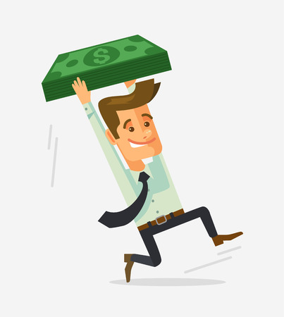 shocked man: Man character shocked with tax. Vector flat cartoon illustration