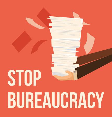 revolt: Stop bureaucracy. Vector flat cartoon illustration Illustration
