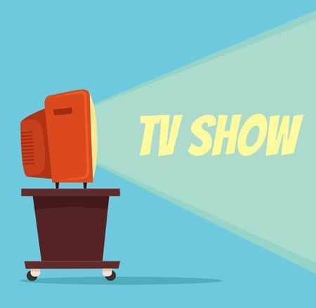 TV show. Vector flat cartoon illustration