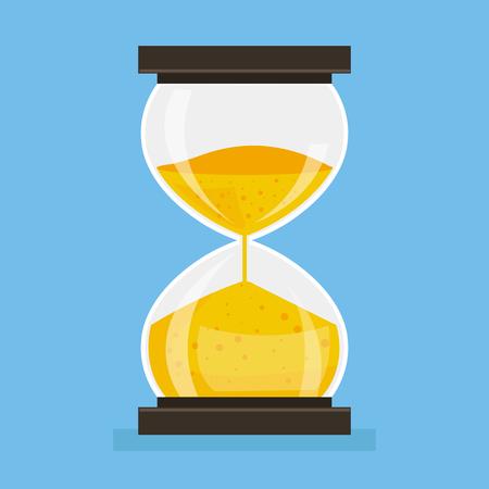 Hourglass Icon. Vector flat cartoon illustration Illustration
