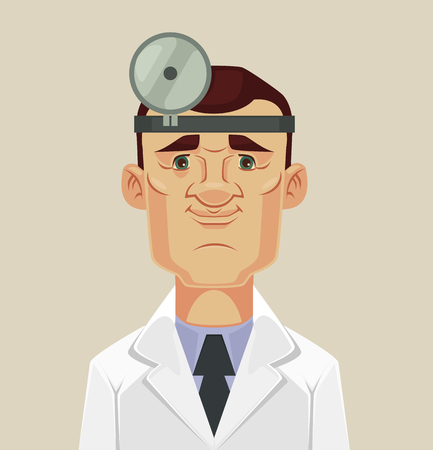 ophthalmologist: Ophthalmologist doctor character. flat cartoon illustration Illustration