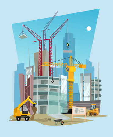 Construction vector flat cartoon illustration