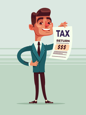Happy smiling businessman. Vector flat cartoon illustration Illustration