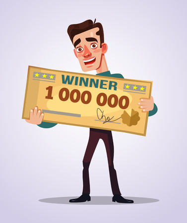 Happy smiling winner. Illustration