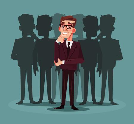 Business recruitment. Vector cartoon illustration Illustration
