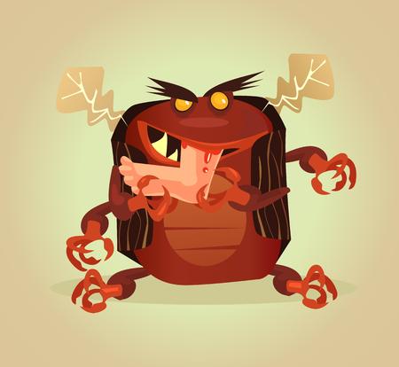 Parasite Vector flat cartoon illustration Stock Vector - 90773811