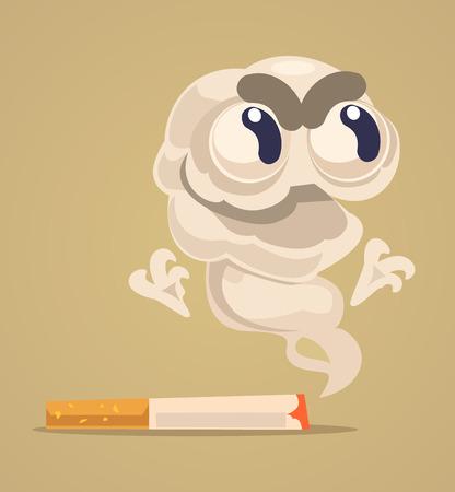 An illustration of cigarette monster character