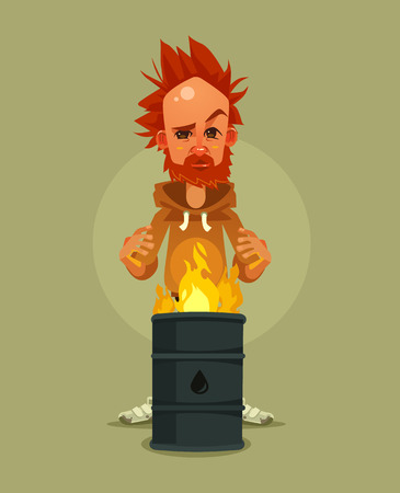 Sad unhappy. Vector cartoon illustration Illustration