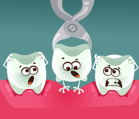 Tooth character removal Stomatology dentistry concept.