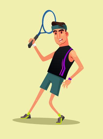 Happy smiling man vector flat cartoon illustration. Illustration