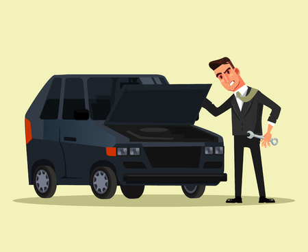 Angry businessman. Vector flat graphic design cartoon isolated illustration