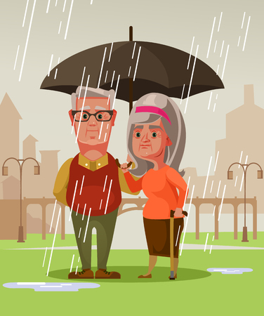 Two people man and woman. Romantic date concept vector cartoon illustration