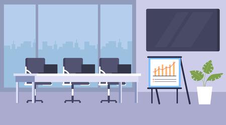 Conference business hall building center concept. Vector design flat graphic cartoon illustration