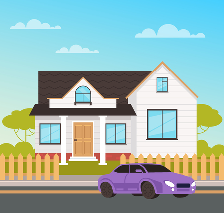 Big family house cottage concept. Vector design flat graphic cartoon illustration