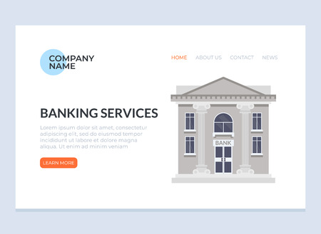 Banking web page banner poster concept. Vector design flat graphic cartoon illustration
