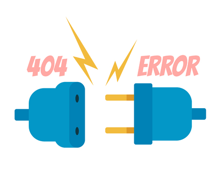 404 error web banner page banner. Vector flat cartoon graphic design illustration