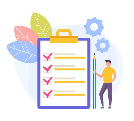 To Do list concept. Vector flat graphic design cartoon illustration