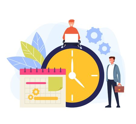 Weekly tasks timeline concept. Vector flat graphic design cartoon isolated illustration