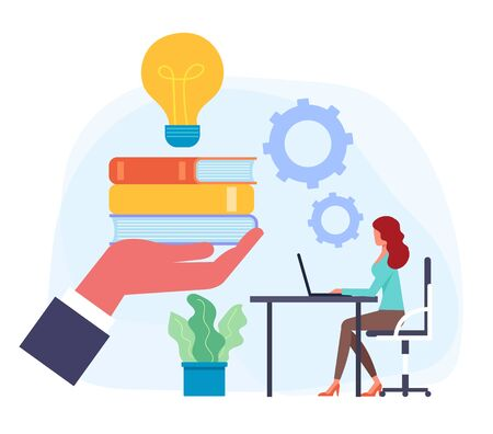 Education classroom knowledge concept. Vector flat graphic design isolated illustration icon Illusztráció