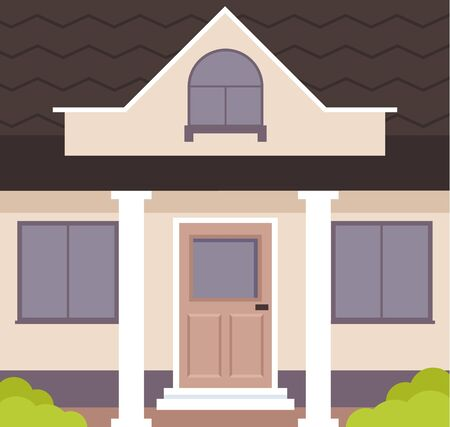House door home close up concept. Vector flat graphic design isolated illustration  イラスト・ベクター素材