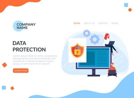 Data protection. Zdjęcie Seryjne - 127959642