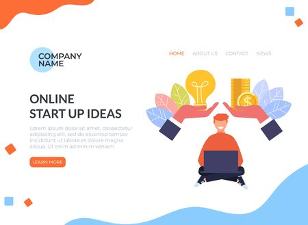 Money idea investment exchanging banner poster concept. Vector flat cartoon design graphic isolated illustration Zdjęcie Seryjne - 129345457