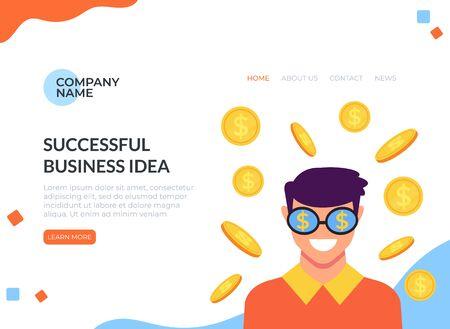 Business start up idea concept. Vector flat cartoon graphic design illustration Zdjęcie Seryjne - 129345512