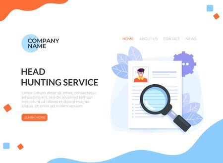 Recruitment human resources concept. Vector flat cartoon graphic design illustration Zdjęcie Seryjne - 129345510