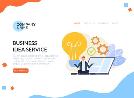 Business idea vector graphic design banner poster illustration