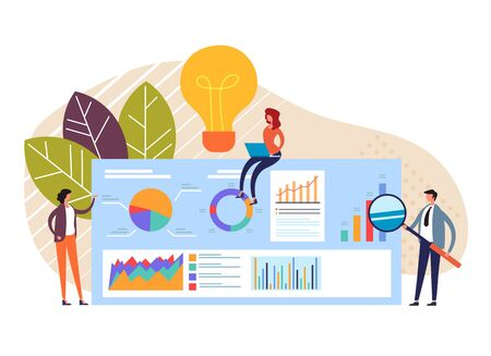 Business meeting teamwork concept. Vector flat graphic design cartoon illustration