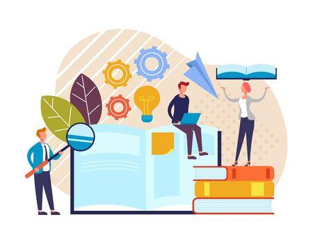 Online business education courses concept. Vector flat graphic design cartoon illustration
