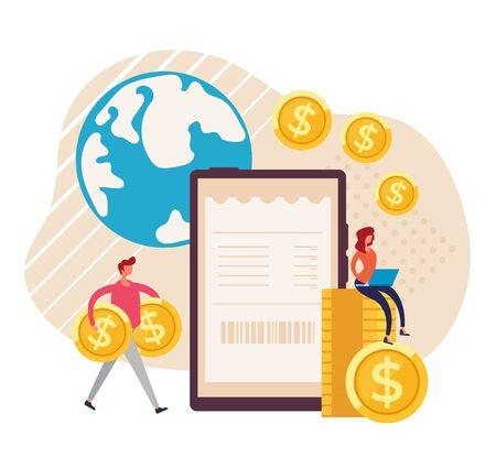 Online mobile payment transaction concept. Vector graphic design flat cartoon illustration